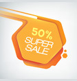 design orange sale poster vector image