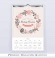 english planning calendar vector image vector image