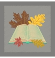 flat shading style icon open book leaves vector image vector image