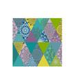 flower color mandala pattern vector image vector image