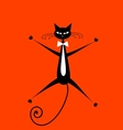 Funny cat for your design vector image vector image