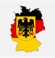 germany flag in form of map federal republic of vector image vector image