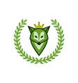 green fox as a queen vector image vector image