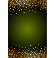 green frame with gold confetti vector image vector image