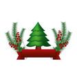 happy christmas decoration vector image vector image