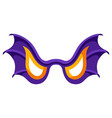 happy halloween angry bat wing vector image