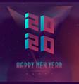 happy new year 2020 party futuristic design vector image