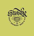 harbor craft beer logo brewing pub emblem label vector image