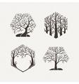 Hexagon trees set Pattern vector image vector image