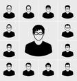 icons man set vector image vector image
