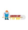 labor day logo workers and shovels sign for vector image vector image
