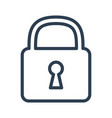 lock icon on white background vector image