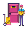 man fast delivery vector image