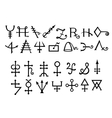 Medieval Alchemical Signs of Grimoire Magic Book vector image vector image