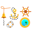nautical collection vector image vector image