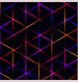 neon triangle blue pink orange and red laser vector image vector image