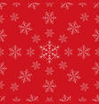 pattern christmas snowflake line style vector image vector image