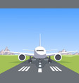 plane on the runway vector image vector image
