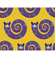 Purple Cat seamless pattern Fabulous animals vector image