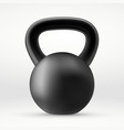 realistic black kettlebell vector image