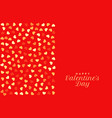 red valentines day background with hearts pattern vector image