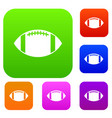 rugby ball set collection vector image vector image