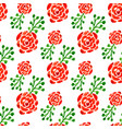 seamless pattern with watercolor roses floral vector image
