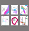 set of banner design templates with abstract vector image vector image