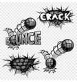 set of monochrome comics icons vector image vector image