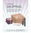 shopping online concept with gift boxes vector image vector image