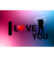 silhouette couple kissing over valentine day vector image vector image