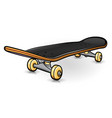 skateboard drawing design isolated vector image vector image