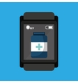smartwatch device health container vector image vector image