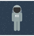 spaceman in flat style vector image vector image