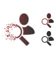 sparkle pixelated halftone find user icon vector image vector image