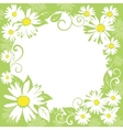 spring floral border vector image vector image
