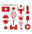 Switzerland Icon set vector image vector image