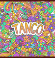 tango zen tangle doodle dance background with vector image vector image