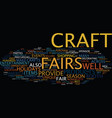 the benefits of craft fairs text background word vector image vector image