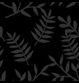 tile tropical pattern with leaves on black vector image vector image