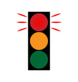 traffic light red 1402 vector image vector image