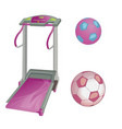 treadmill and soccer balls flat style vector image vector image