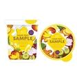 Tropical fruit Yogurt Packaging Design Template vector image