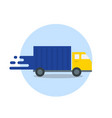 truck in motion express delivery fast shipping vector image
