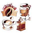 vector coffee elements set vector image vector image