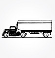 vintage truck side view vector image