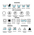 washing and dry cleaning drying and ironing or vector image