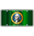 washington state license plate flag vector image vector image