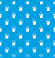 water bucket pattern seamless blue vector image vector image