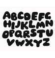 Funny Black Alphabet vector image